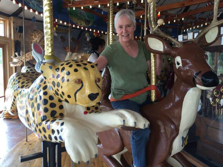 Rebecca at the Carousel of Happiness 768x576